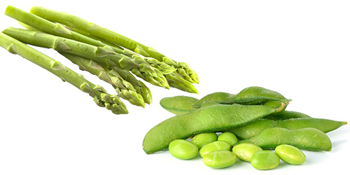 Asparagus and Edamame are the foundation of an easy salad to make that is loaded with phytonutrients, fiber and protein.