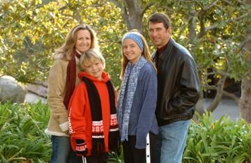 A family photo taken in 2004.