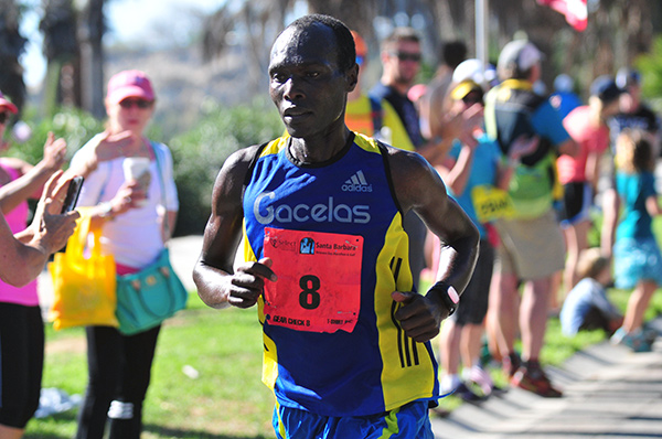 Sammy became a first-time winner of the Santa Barbara Marathon on Saturday in a time of 2:31.40. (Presidio Sports Photos)