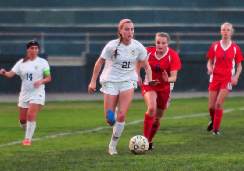 Santa Barbara High sophomore Alea Hyatt scored the game-winner on a penalty kick.
