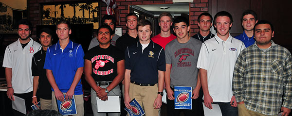 The defensive unit of the Presidio Sports  All-CIty Football Team.