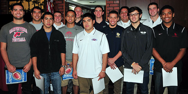 The offensive unit of the Presidio Sports All-City Football Team.