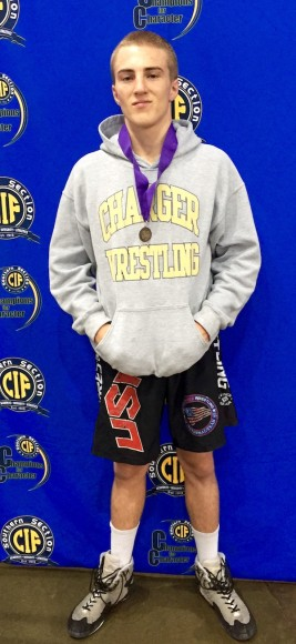 Cameron Cox of Dos Pueblos earned a spot in the CIF State Wrestling Championships.