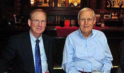 UCSB  Director of Athletics John McCutcheon with predecessor Gary Cunningham.