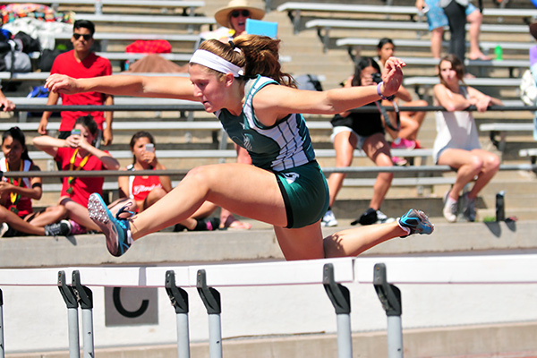 Santa Barbara High junior Natasha Feshbach won 100 hurdles 300 hurdles and long jump at the County Championships.