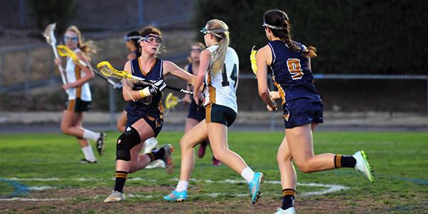 Santa Barbara High freshman Mia Barton (14) scored five goals for the Dons on Thursday.