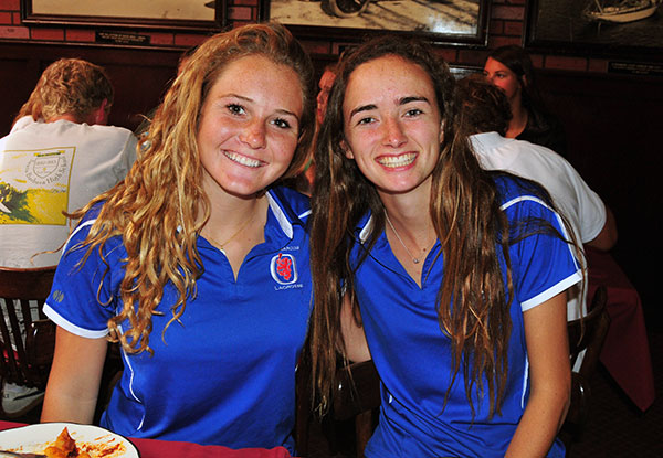 San Marcos lacrosse players Summer Bosse, left, and Ali Bliss, right.