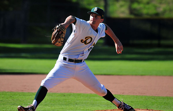 Trevor Moropoulos allowed one hit in his four innings of work for the Dons.
