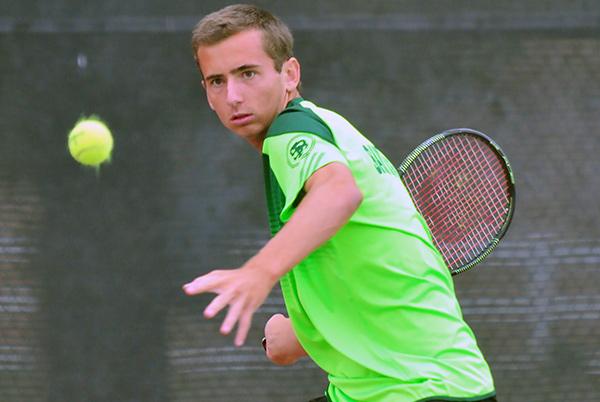 Santa Barbara High's Jackson Powell swept his three sets in singles on Tuesday.