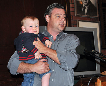 Burich's young son Connor was introduced to the sports community at a Round Table event in 2011.