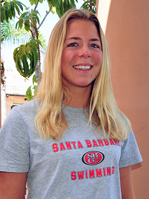 Rachelle Visser led SBCC to its first WSC Swimming Championship.
