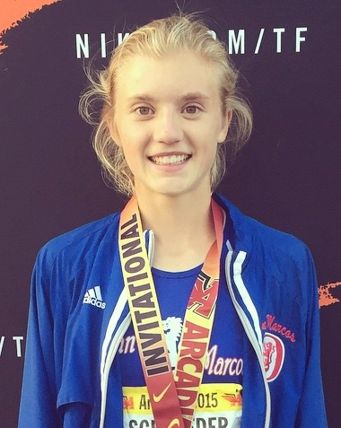 Erica Schroeder finished fifth in the Arcadia Invitational 800.