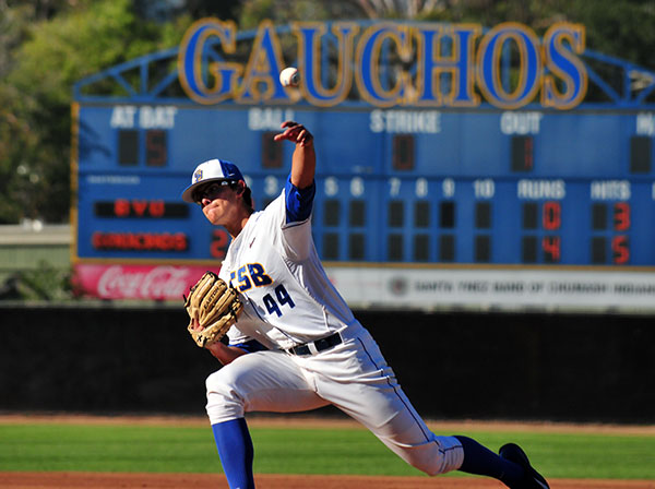 Gaucho starter Justin Jacome allowed four runs and eight hits in 6.1 innings.