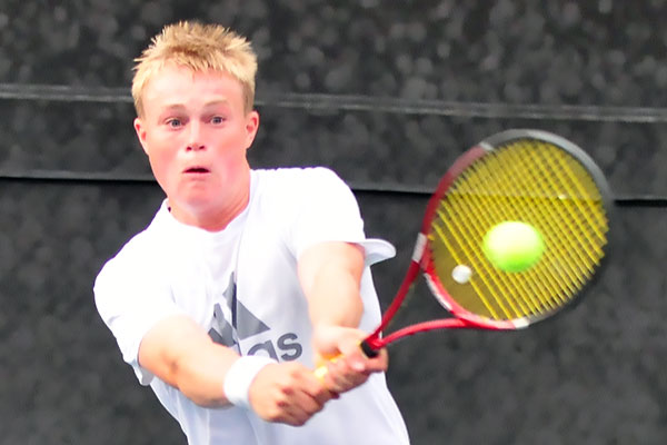 San Marcos senior Lars Scannell faced Kento Perera in the singles final.