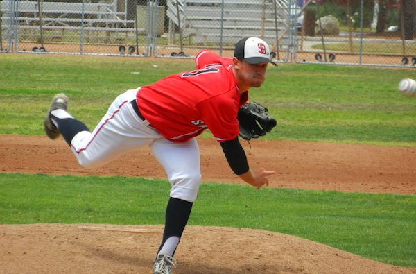 Justin Bruce won his second playoff game for SBCC.