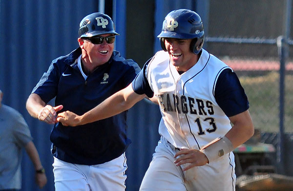 Nick Katzenstein, left,  coached the Chargers to three Channel League championships in three seasons at Dos Pueblos. (Presidio Sports Photo)