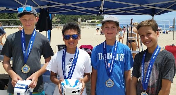 Noah Keelin, left, and Matthew Suh beat Dylan Foreman and Alex Rottman for the Boys 12s title.
