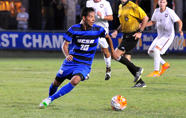 UCSB went 13-6-4 in the regular season with signature wins against Stanford and UCLA. Midfielder Josue España pictured. (Presidio Sports Photo)