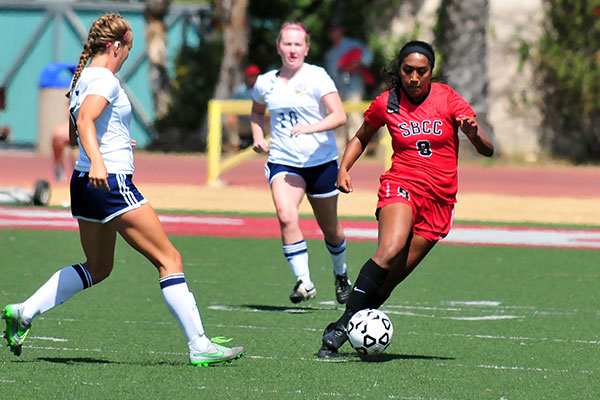 Maria Solis scored SBCC's second goal on Friday. (Presidio Sports Photo)
