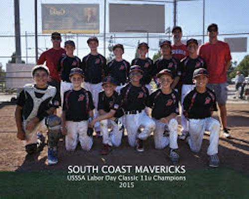 The Central Coast Mavericks baseball club won the Labor Day Tournament in Camarillo.