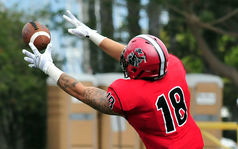 SBCC tight end Jacob Ortale. (Presidio Sports Photo)