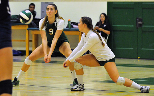 Jessyka Beksa, left, had a game-high 25 kills in the match.