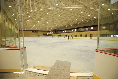 One of two new rinks at Ice in Paradise. (Paul Wellman/SB Independent)