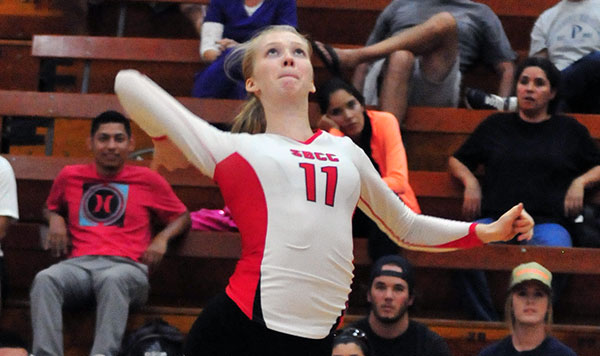 SBCC's Shannon Friend led the Vaqueros on Wednesday night. (John Dvorak/Presidio Sports Photos)