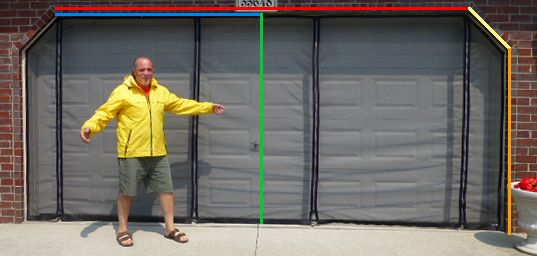 Garage Door Screens with Angles