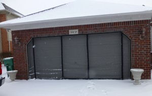 angle garage screens