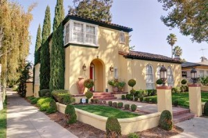Mediterranean style home from the 1920s in Naglee Park (downtown San Jose)