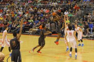 I. H. S. A. Class 2A Basketball Finals Button Photo