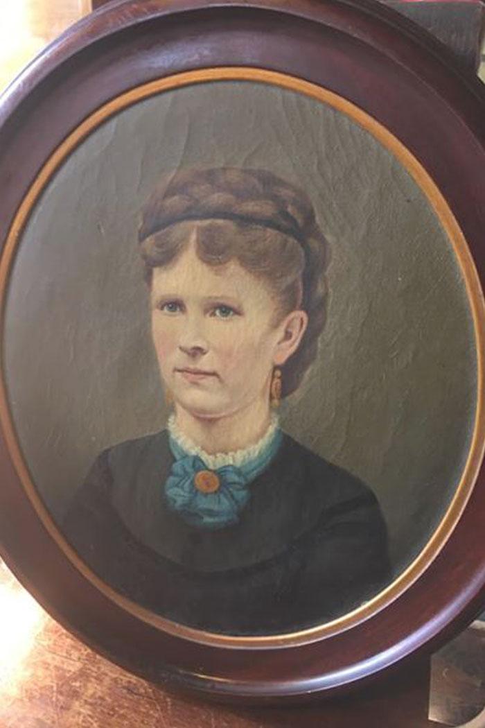 1800's Antique American Teacher Portrait