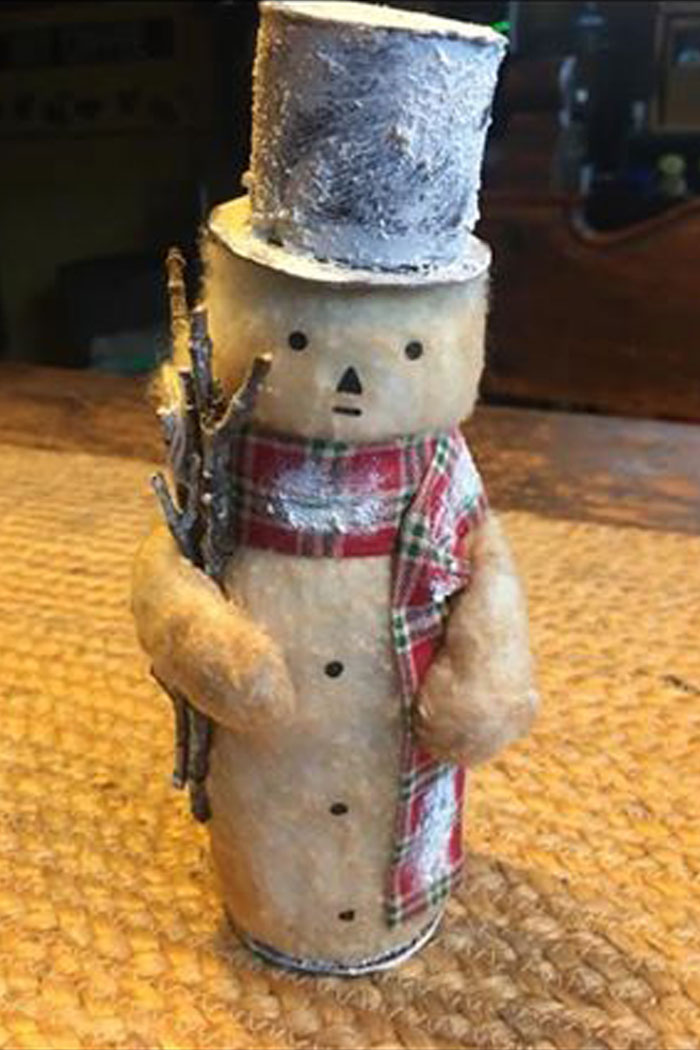 Vintage Handcrafted snowman