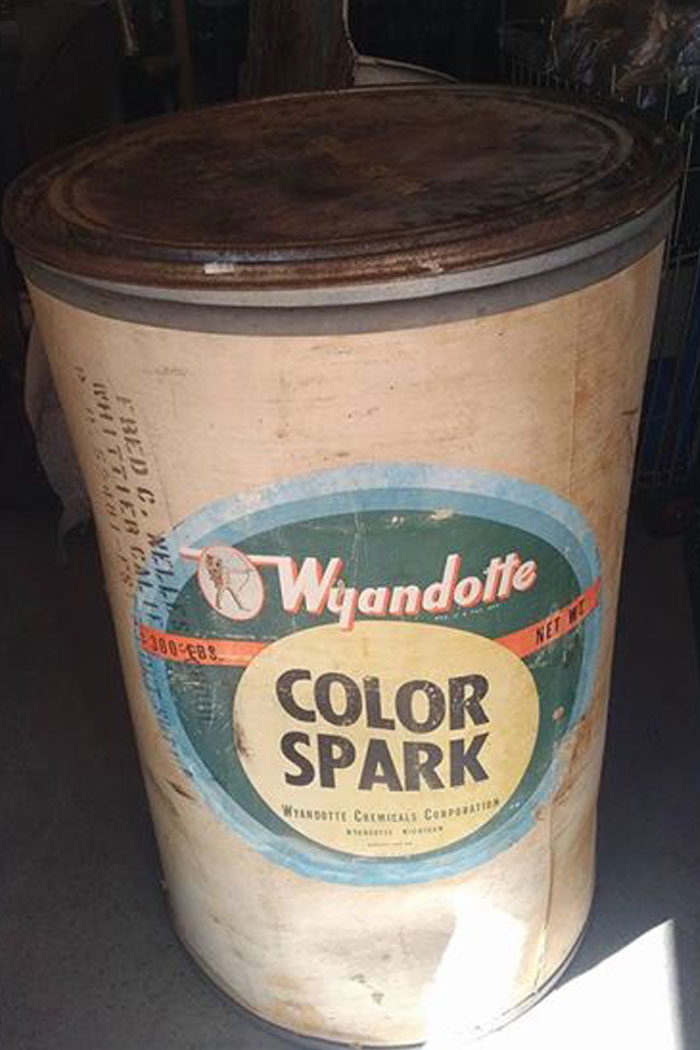 Vintage Storage Drum