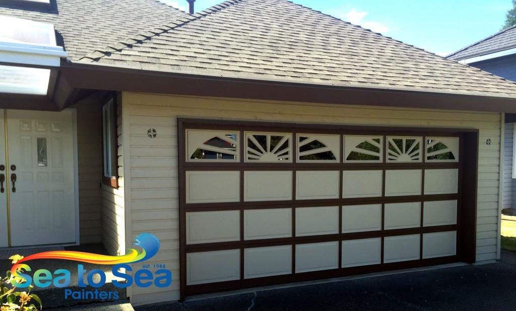 Garage door painting services in Surrey, BC