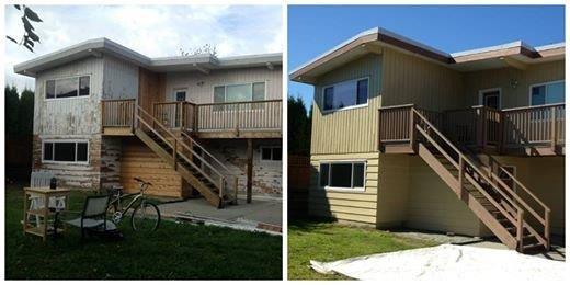 Maple Ridge house repaint of fascia and trim