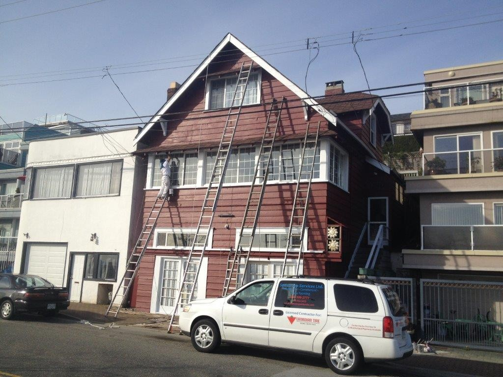 Exterior house painting for a Marine Drive home in White Rock, BC