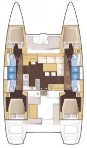 Lagoon 450 sailing catamaran for skippered charters in Italy by Catamaran Charter Italy