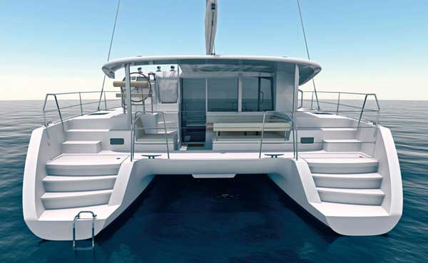 Lagoon 400 Sailing Catamaran for bare boat and skippered charters in Italy by Catamaran Charter Italy