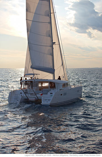 Lagoon 400 S2 Sailing Catamaran for bare boat and skippered charters in Italy by Catamaran Charter Italy