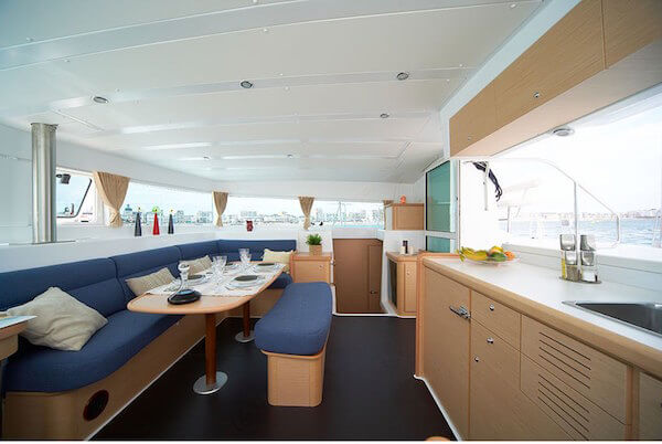 Lagoon 420 Sailing Catamaran for bare boat and skippered charters in Italy by Catamaran Charter Italy