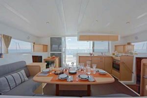 Lagoon 421 Sailing Catamaran for bare boat and skippered charters in Italy by Catamaran Charter Italy