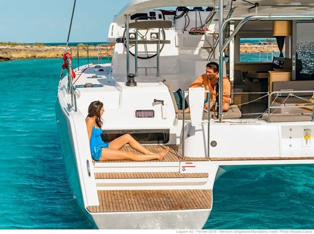 Lagoon 42 Sailing Catamaran for bare boat and skippered charters in Italy by Catamaran Charter Italy