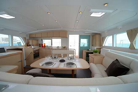 Lagoon 440 Sailing Catamaran for bare boat and skippered charters in Italy by Catamaran Charter Italy
