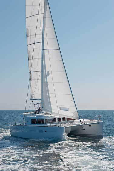 Lagoon 450 Sailing Catamaran for bare boat and skippered charters in Italy by Catamaran Charter Italy