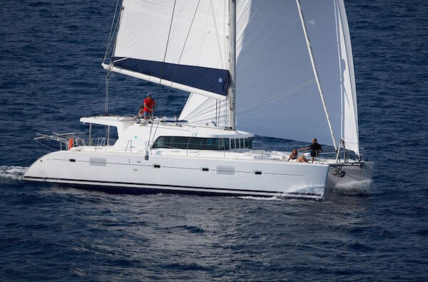 Lagoon 500 Sailing Catamaran for bare boat and skippered charters in Italy by Catamaran Charter Italy