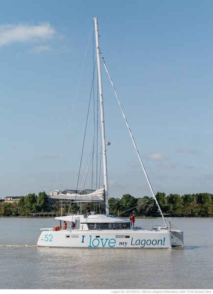 Lagoon 52 Sailing Catamaran for bare boat and skippered charters in Italy by Catamaran Charter Italy