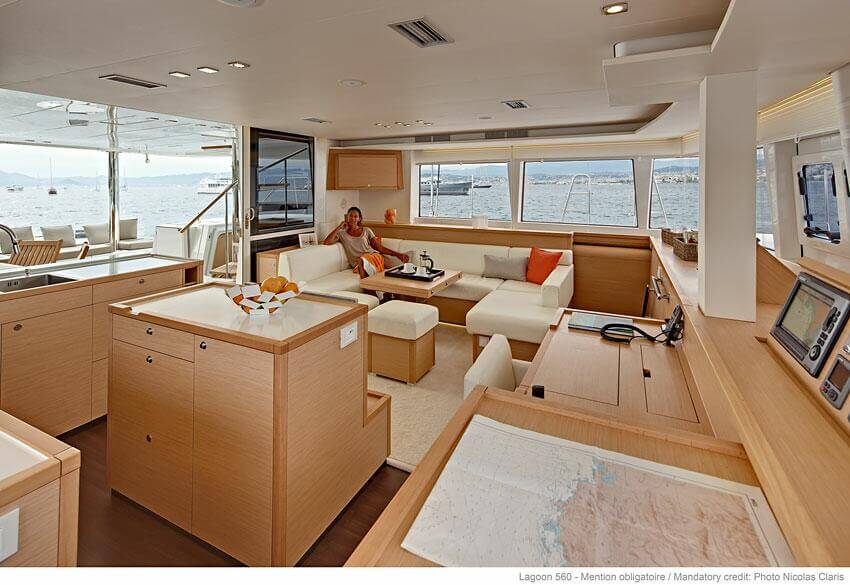 Lagoon 560 Sailing Catamaran for bare boat and skippered charters in Italy by Catamaran Charter Italy