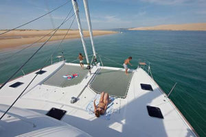Lagoon 620 Sailing Catamaran for bare boat and skippered charters in Italy by Catamaran Charter Italy